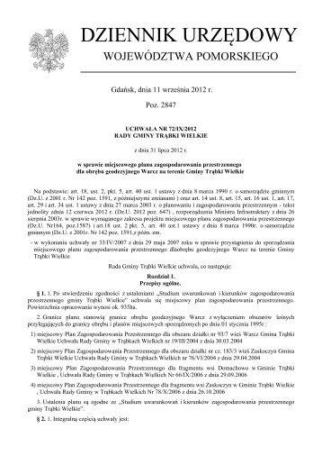 Uchwała Nr 72/IX/2012 z dnia 31 lipca 2012 r. - Plany ...