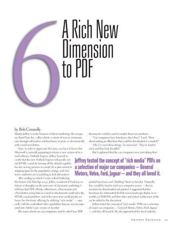 A Rich New Dimension To PDF - Graphic Exchange magazine