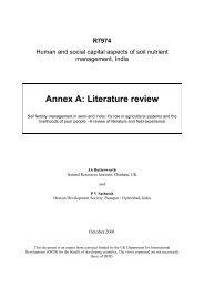 Annex A: Literature review - NRSP