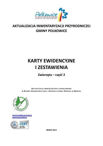 Karty ewidencyjne zwierząt cz.2 - POBIERZ PLIK PDF(3,58MB)