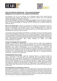 Erster Europäischer Röntgentag – Schwerpunkt Radiologie ...