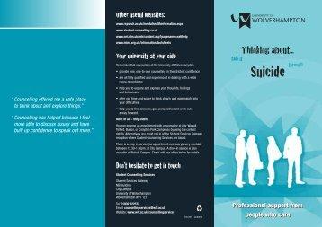Suicide - University of Wolverhampton