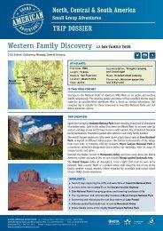 Western Family Discovery - Adventure Holidays & Activity Holidays