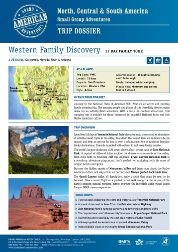 Western Family Discovery - Adventure Holidays & Activity Holidays