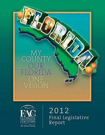 2012 Legislative Final Report - Florida Association of Counties