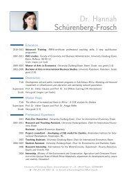 Dr. Hannah Schürenberg-Frosch – - Universität Duisburg-Essen