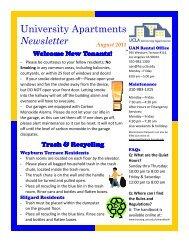 UAN Grad Newsletter 08-2011.pub - UCLA - Housing