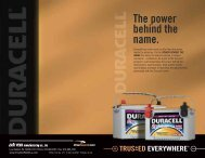 Power Behind The Name Booklet - Drive Duracell