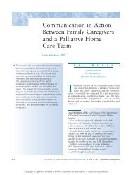 Communication in Action Between Family Caregivers and a ...