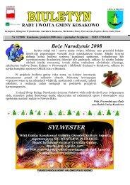 Biuletyn nr 12/2008 grudzień (pdf-2 Mb) - Gmina Kosakowo