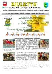Biuletyn nr 3/2009 marzec (pdf-1,2 Mb) - Gmina Kosakowo