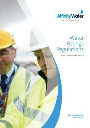 Water Fittings Regulations - Affinity Water