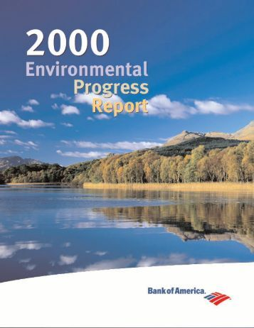 Bank of America 2000 Environmental Progress Report