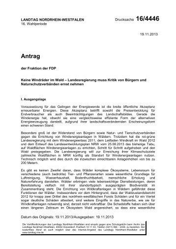 DS 16/4446 - FDP-Fraktion NRW