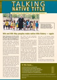 Issue 13 - National Native Title Tribunal