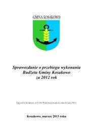 (Sprawozdanie z wykonania budżetu za 2012 rok) - Gmina Kosakowo