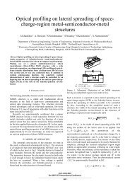 Optical profiling on lateral spreading of space- charge-region metal ...
