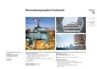 Renovationsprojekte Frankreich - Geschäftsbericht 2012-2013