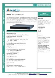 BE8000 Broadcast Encoder