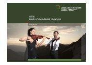 AIFM Liechtenstein bietet Lösungen - Liechtensteinische Landesbank