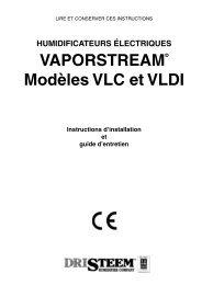 VaPOrstream® modèles Vlc et Vldi - DRI-STEEM