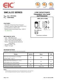 SMCJLCE SERIES : LOW CAPACITANCE TRANSIENT ... - EIC