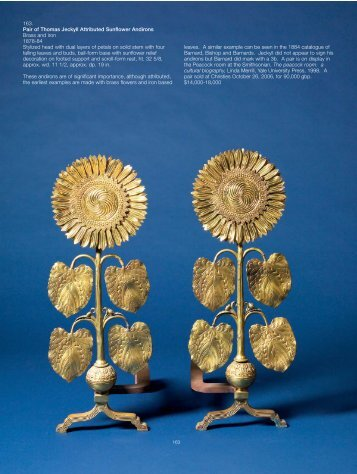 Pair Of Thomas Jeckyll Attributed Sunflower Andirons - Skinner