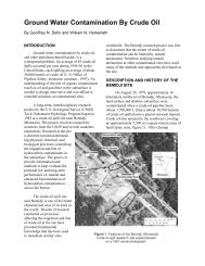 Ground Water Contamination By Crude Oil - Minnesota - USGS