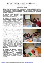 Kooperatív tanulási technikák alkalmazása az SNI gyermekek ...