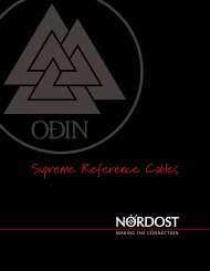 Nordost adds Odin Tonearm Lead to complete ... - Hifinesse.nl