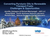 Converting Pyrolysis Oils to Renewable Transport Fuels ...