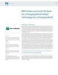 BNP Paribas and Zend: The Bank for a Changing World Adopts ...