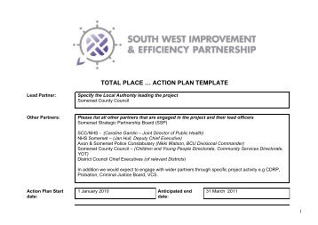 TOTAL PLACE … ACTION PLAN TEMPLATE - South West Councils