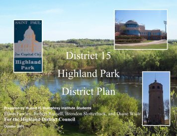 District 15 Highland Park District Plan - Highland District Council