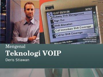 Mengenal Teknologi VOIP