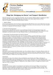 Pflege bzw. Reinigung von Staron® und Tempest®-Oberflächen