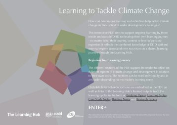 Learning to Tackle Climate Change - Institute of Development Studies