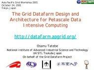 The Grid Datafarm Architecture for Petascale Data Intensive ...