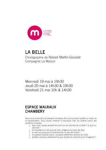 consulter le dossier pédagogique - Espace Malraux