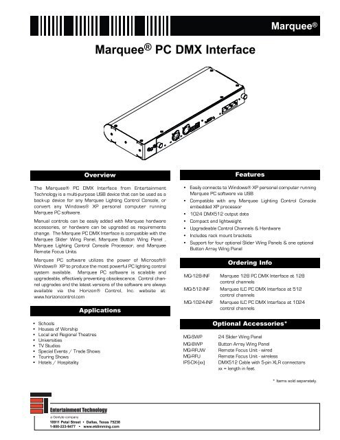 Marquee® PC DMX Interface