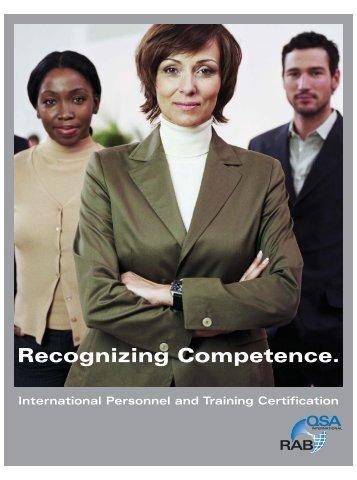 Training Certification - rabqsa