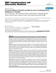 Perceived efficacy of herbal remedies by users accessing primary ...