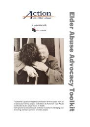 Elder Abuse Advocacy Toolkit - Action on Elder Abuse