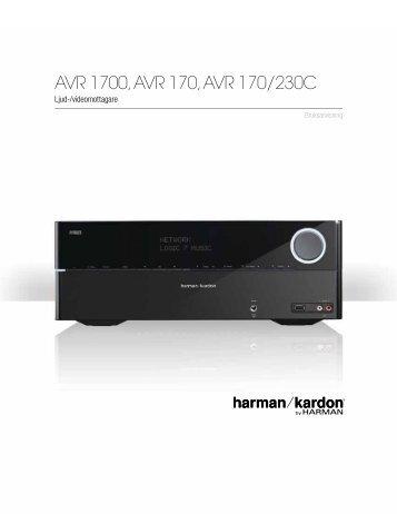 AVR 1700, AVR 170, AVR 170/230C - Harman Kardon