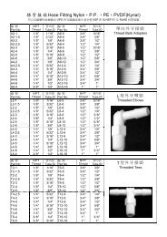 插管接頭Hose Fitting Nylon P