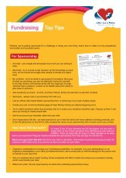 Fundraising Top Tips - Little Hearts Matter