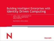 Building Intelligent Enterprises with Identity Driven Computing