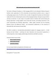 PhD scholarships and post-doctoral positions for 2013 The Centre of ...