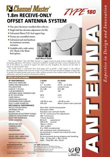1.8m RECEIVE-ONLY OFFSET ANTENNA SYSTEM - TDT Profesional