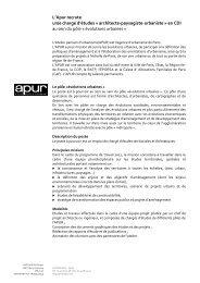 L'Apur recrute un/e chargé d'études « architecte-paysagiste ...